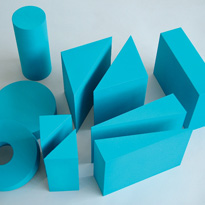 Blue coated foam shape set. Code: AC1051