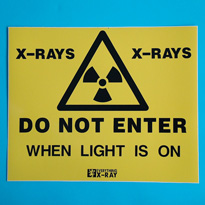 X-ray warning sign. Code: AC1082